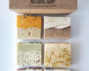 BOX with 6 mini soaps - Mini Soap - Guest Soap - Artisan soap - Soap Favor - Handmade Soap - Travel - Hotel Soap - AirBnbHost