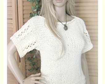 Teen to Adult Side to Side Pullover  Knitting Pattern