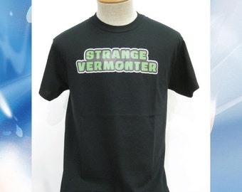 Strange Vermonter T-Shirt // Heat Pressed Graphic Tee // available in Green or Pink