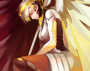 Overwatch: Mercy High Quality Poster game