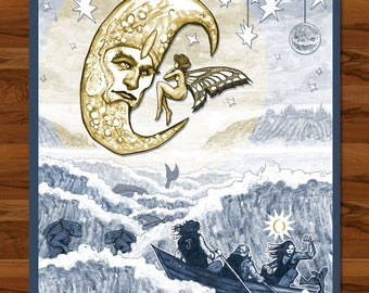 """A Perfect Circle - More to See (beneath the surface) - 18""""x24"""" Screenprint poster from Portland, OR show December 2017 - Art by Eric Johnson"""