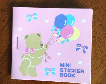 Vintage Sanrio Mini Sticker Book featuring Tweedle Dee Dee Bear