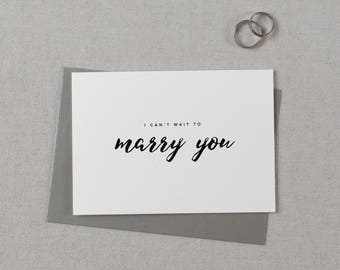 I Can't Wait To Marry You, Wedding Card to Bride or Groom, Wedding Day Card, Wedding Cards Wedding Stationery Cards, Future Husband Wife, K8