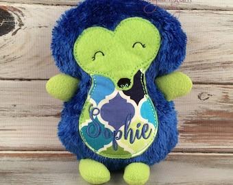 Stuffed Hedgehog, Plush Hedgie, Personalized