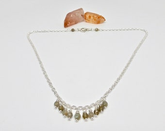 Labradorite Necklace, Beaded Necklace, Crystal Necklace, Gemstone Necklace, Healing Gemstones, Healing Crystals, Talisman