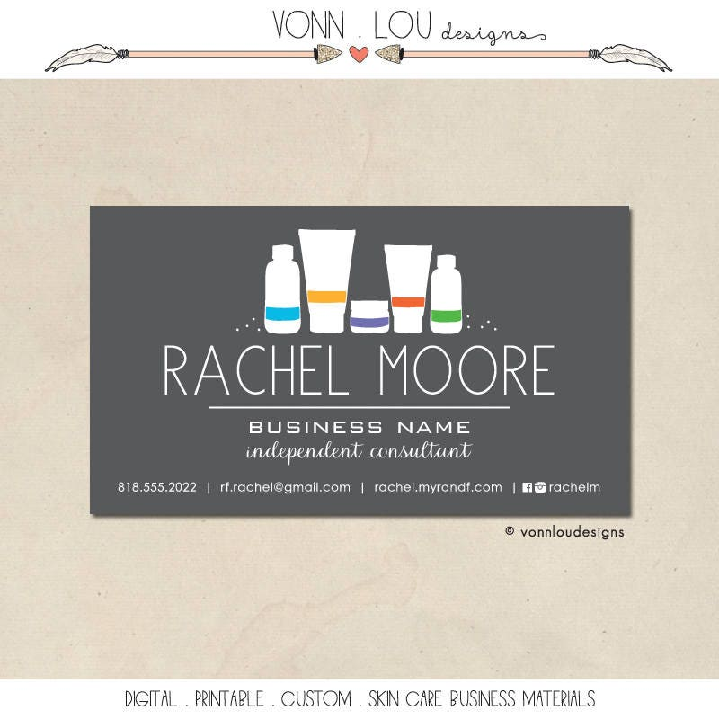 printable skin care business cards mommy calling cards