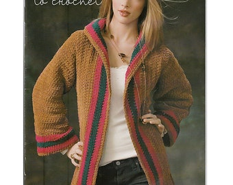 Swanky Suede Fashions To Crochet Pattern Book Leisure Arts 75126