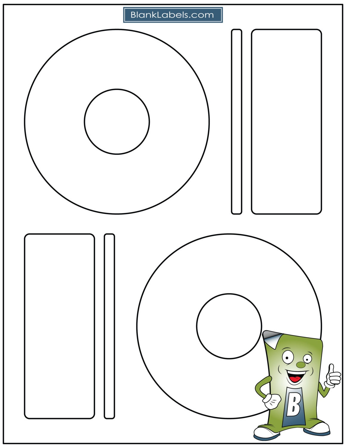 Blank Laser Ink Jet Labels For CD Or DVD Sheets - Memorex cd label template