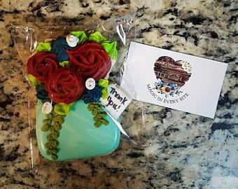 Floral Mason Jar with Tag