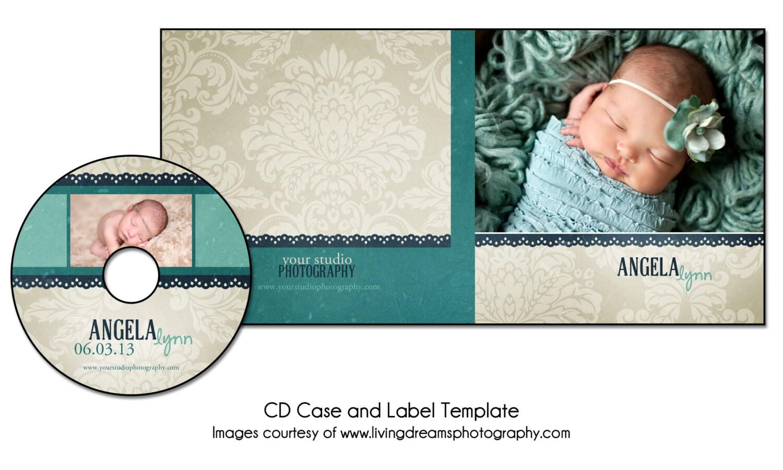 Etiqueta de CD/DVD PSD y solo cubierta paquete de