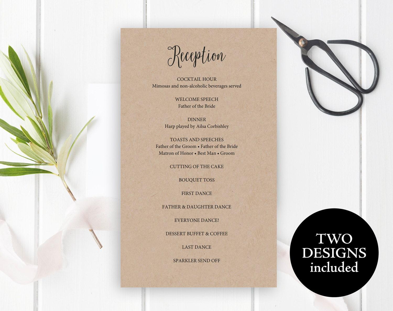 gold wedding menu card template wedding from paintthedaydesigns
