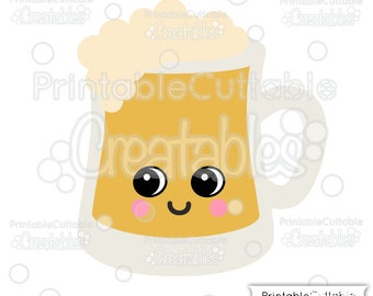 Cute Beer Mug SVG File and Clipart E364 - svg, dxf, png, for Cricut, Cameo Cutting Machines - Includes Limited Commercial Use!