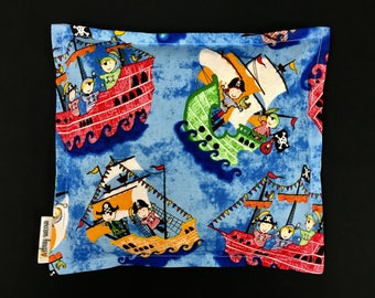 Kids Corn Bags, Heat Pack, Corn Heating Pad, Microwave Corn Bags, Heated Bag, Ice Pack, Relaxation Gift, Gift for Children, Pirates, Boo Boo
