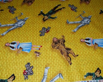 Wizard of Oz Yellow Brick Road premium cotton fabric from Quilting Treasures OOP HTF- sold by the yard