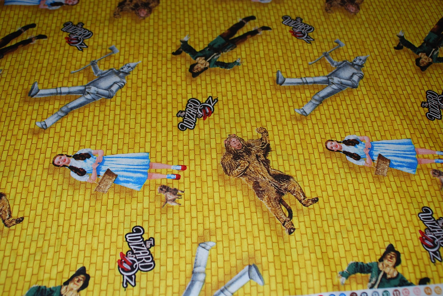 Wizard of Oz Yellow Brick Road premium cotton fabric from
