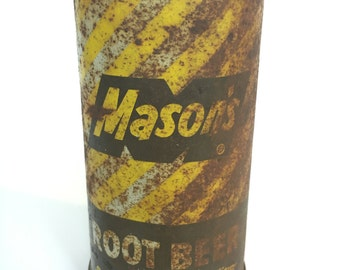 Rare R3 Mason's Root Beer Soda Flat Top Soda Can--Pre-Zip Tab 1956