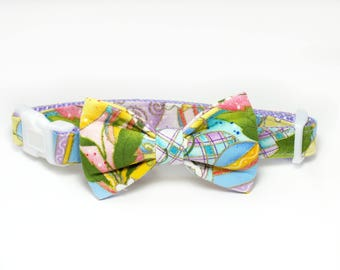 SALE Easter Dog Collar Bow Tie set, pet bow tie, collar bow tie, wedding bow tie, pet photography