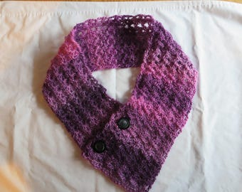 "37"" Crocheted Scarf - Color Petunia, Scarf, Crocheted, Petunia"