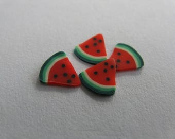 set of 12 thin slices for nail jewelry watermelon slices