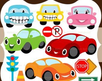 My Happy Cars Clipart