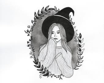 Autumn Witch Art Print