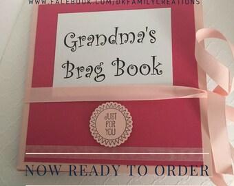 NEW ITEM - Grandma's Brag Book - Great Gift Idea! Fully Customizable!