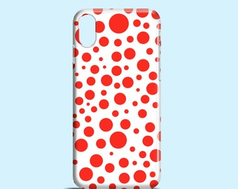 Red Polka Dots iPhone X case / Bright iPhone 8 case / 8 Plus / 7 Plus / cute iPhone 6S case / graphic iPhone 6 / iPhone 5/5S/SE / Samsung