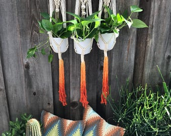 Triple threat macrame plant hanger