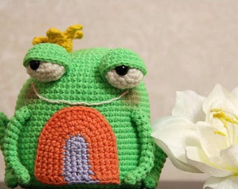 Crochet Frog Princess, Frog Toy