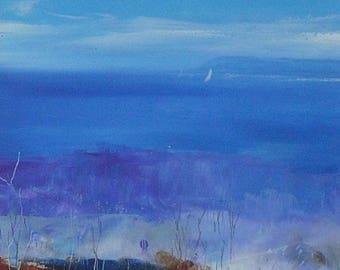 Amanda Hoskin Original Oil Painting - Dodman Point Near Mevagissey Cornwall