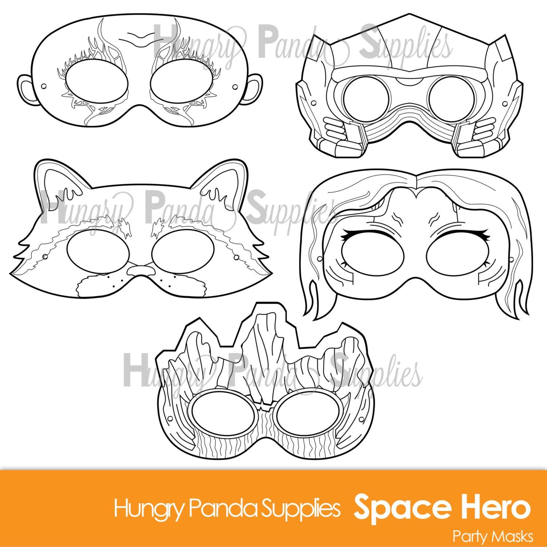 Uncategorized Printable Masks For Kids space hero printable coloring masks printable