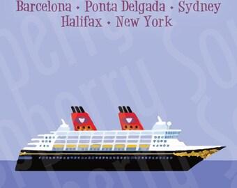 Disney Cruise Magnet Transatlantic 2018