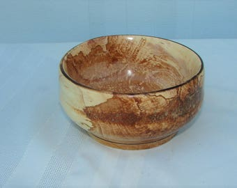 Spalted hand-turned Apple Tabletop Centerpiece Bowl