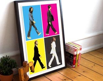 Beatles CMYK Poster
