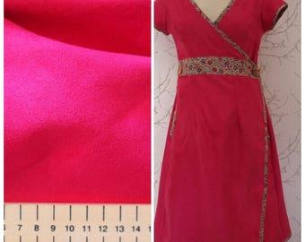 Very good quality soft Suede, fuchsia color