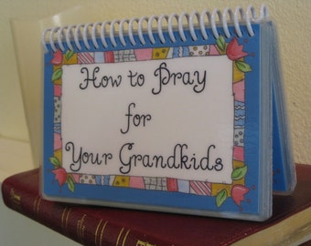 Prayer Cards, How to Pray for Your Grandkids, Spiral-Bound, Laminated