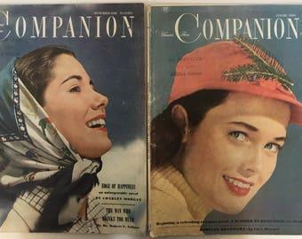 "40s Women's Home Companion  "" 1948 Coffee Table Magazine Set"""