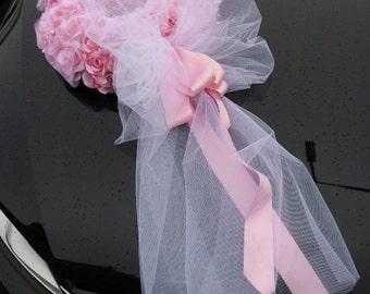 Wreath Of Roses Wedding Car Decoration Of Silk Flowers