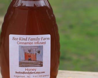 Cinnamon Infused Honey 8 oz jar