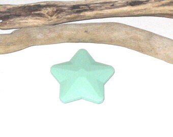 2 beads, Star silicone green 45 mm