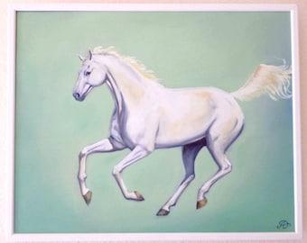 White Horse - Original Painting