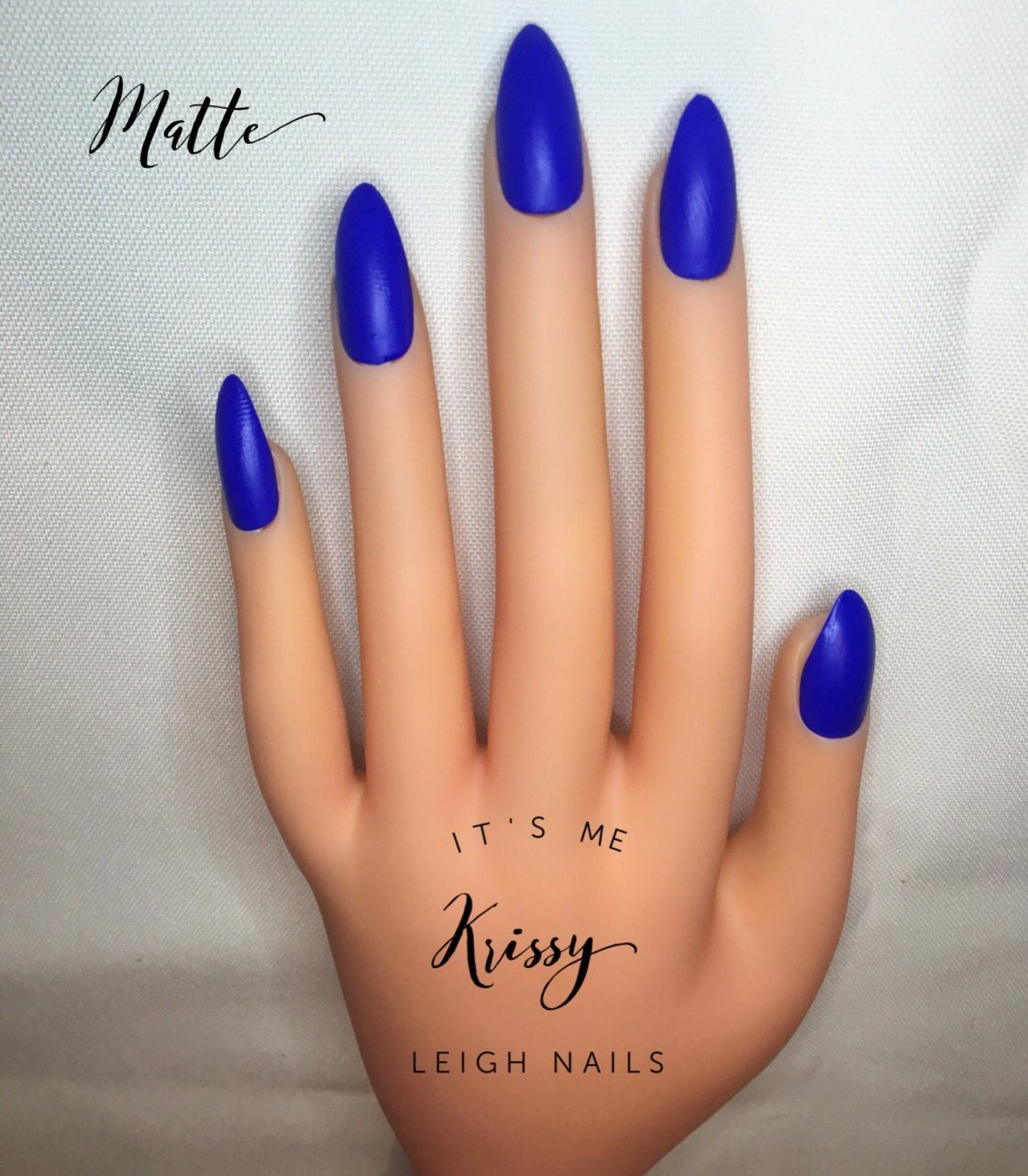 Royal Blue Press On Nails l Dark Blue Fake Nails l Dark Blue False ...