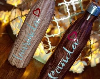 25OZ Custom Wood water bottles