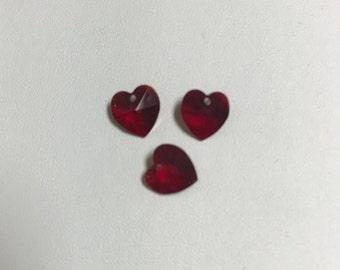 6202 Swarovski® 10mm Heart Pendant - Siam