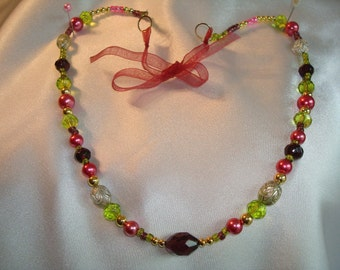 Springtime and Royalty necklace