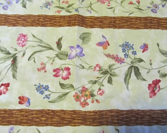 Free Shipping! Wildflower Rhapsody, Wing and a Prayer for Timeless Treasures. 1/2 Yard. 17110