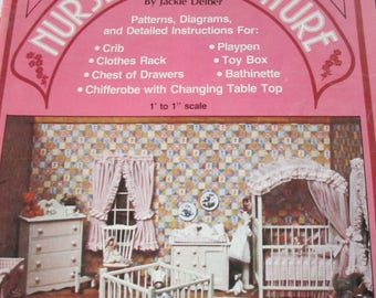 """DIY Vintage """" Nursery in Miniature""""   Craft Book by Jackie Deiber 24 pages used good condition 1979 Craft"""