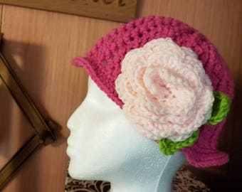 Girls Cloche hats and Tiaras - Crocheted