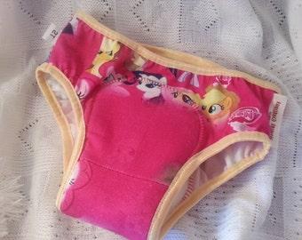 PREMIUM - Cotton Toddler Girls Training Underwear with Waterproof Pad - My Little Pony 3050