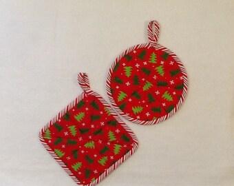 Christmas Pot Holders, Holiday Pot Holders, Hostess Gift,
